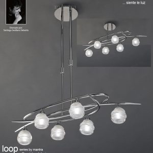 Loop Pendant 6 Light Polished Chrome (Semiflush Convertible) & Lights Up Pune exclusive showroom complete lighting solutions ... azcodes.com